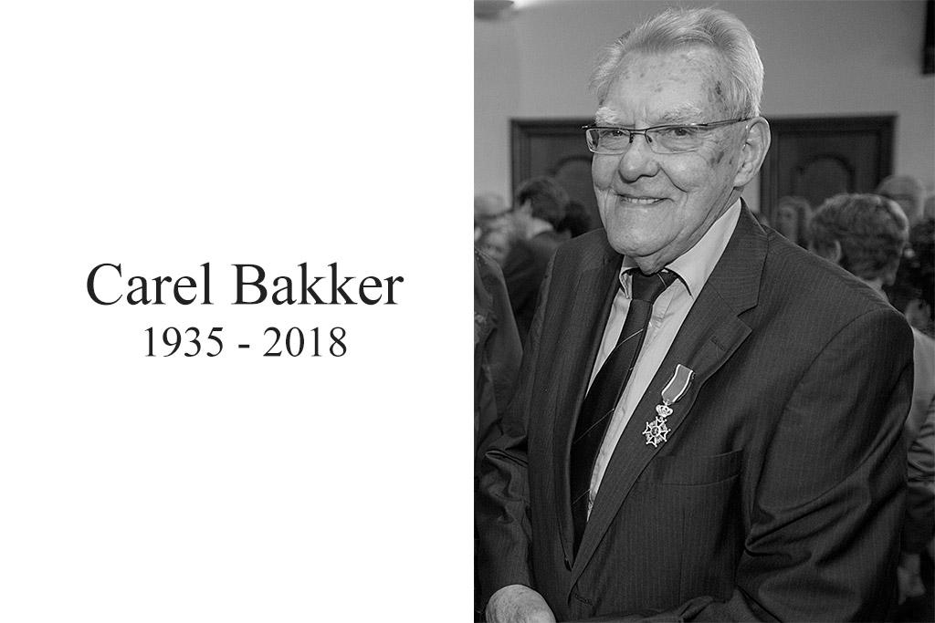 Carel Bakker 1935-2018 foto: Michel van Bergen