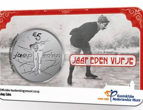 Sportheld Jaap Eden geëerd met officiële Nederlandse herdenkingsmunt
