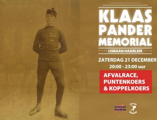 5e Editie Klaas Pander Memorial
