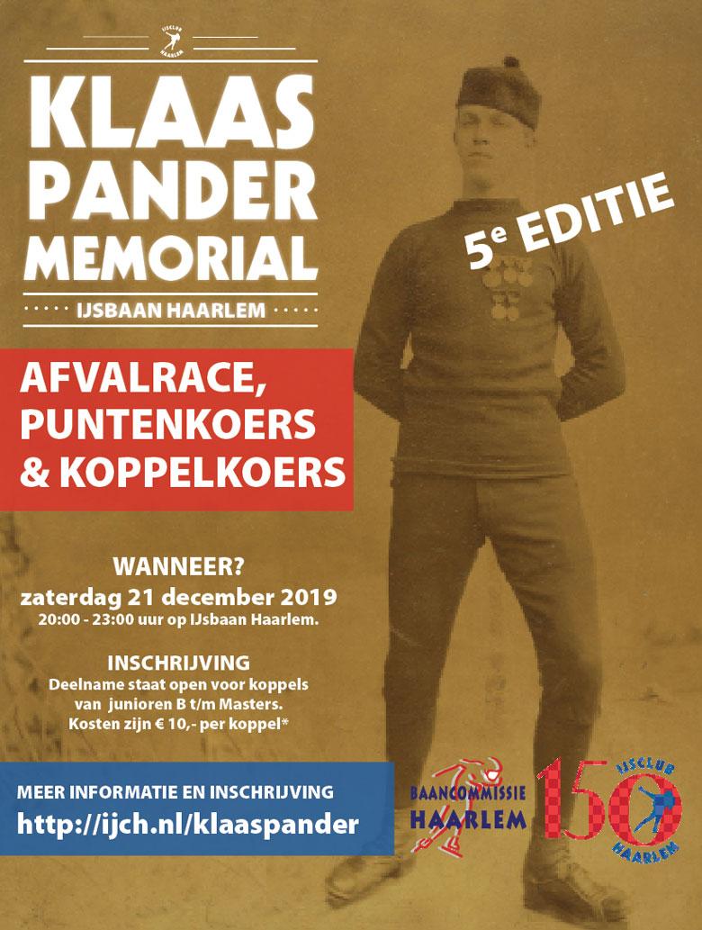 Schrijf je nu in voor de Klaas Pander Memorial