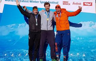 Geheel Nederlands podium op de 3.000m Masters 40-45j categorie.
