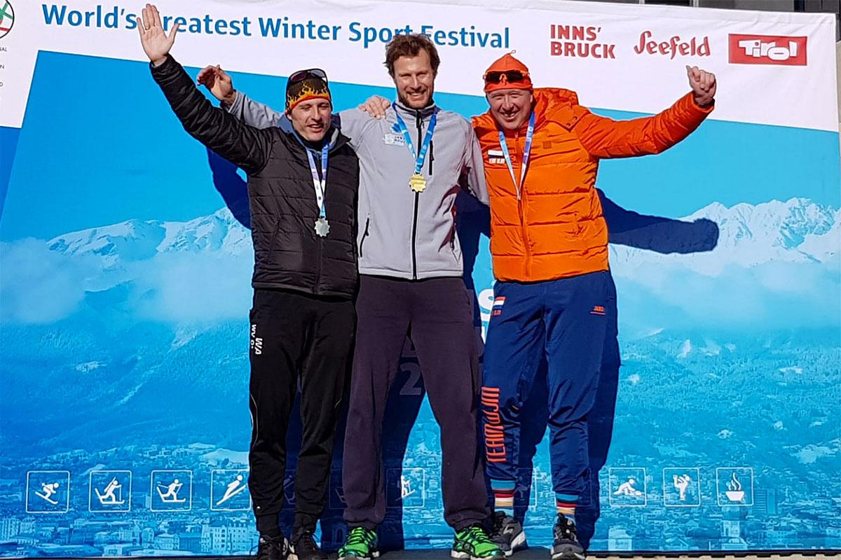 Geheel Nederlands podium op de 3.000m Masters 40-45j categorie.