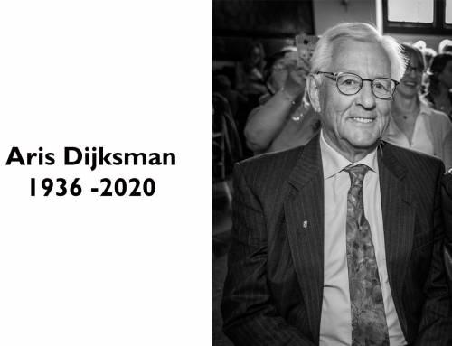 Ons erelid Aris Dijksman overleden